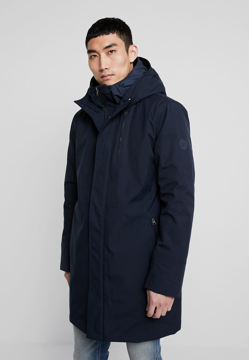 Knowledge Cotton Apparel - LONG SOFT SHELL JACKET  - Winter coat - total eclipse