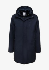 Knowledge Cotton Apparel - LONG SOFT SHELL JACKET  - Winter coat - total eclipse - 4