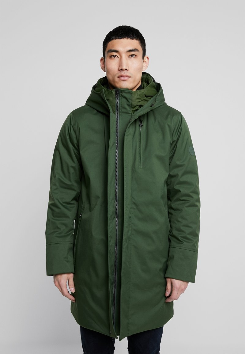 Knowledge Cotton Apparel - LONG SOFT SHELL JACKET  - Talvitakki - green forest