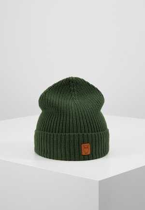 RIBBING HAT - Lue - dark green