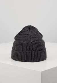 Knowledge Cotton Apparel - RIBBING HAT SHORT - Čepice - dark grey - 3