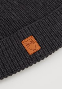 Knowledge Cotton Apparel - RIBBING HAT SHORT - Čepice - dark grey - 2