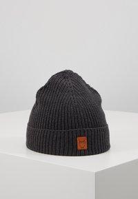 Knowledge Cotton Apparel - RIBBING HAT SHORT - Čepice - dark grey - 0