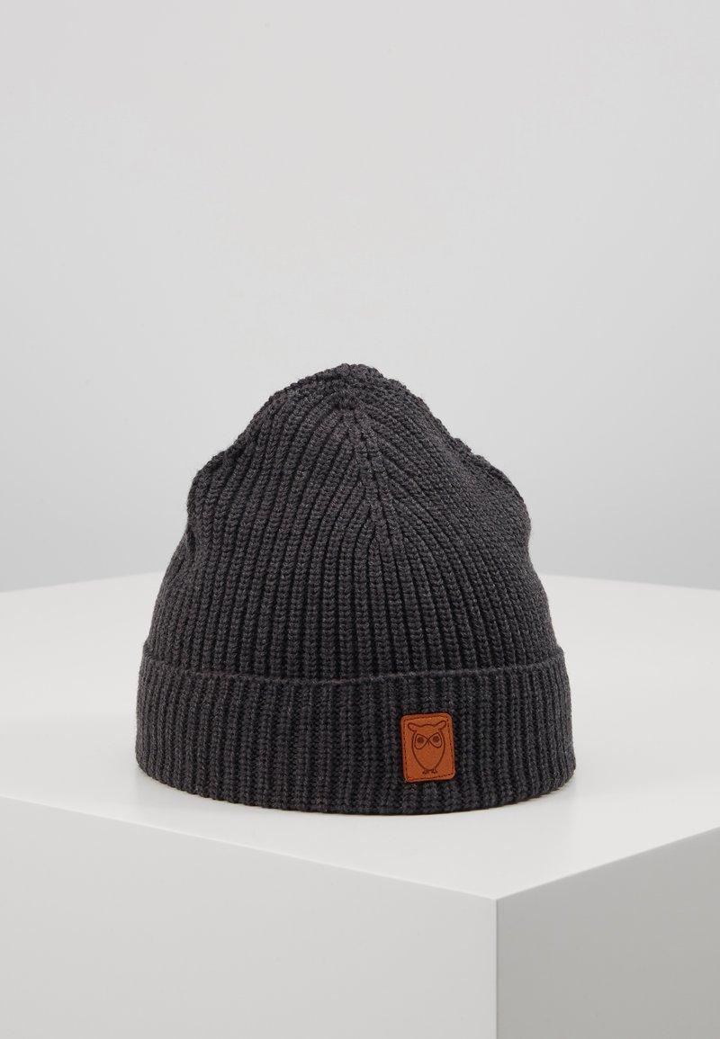 Knowledge Cotton Apparel - RIBBING HAT SHORT - Čepice - dark grey