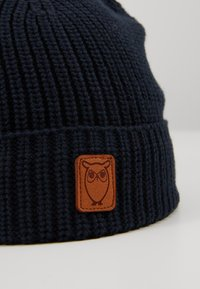 Knowledge Cotton Apparel - RIBBING HAT SHORT - Čepice - dark blue - 2