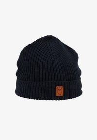 Knowledge Cotton Apparel - RIBBING HAT SHORT - Čepice - dark blue - 1