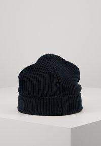Knowledge Cotton Apparel - RIBBING HAT SHORT - Čepice - dark blue - 3