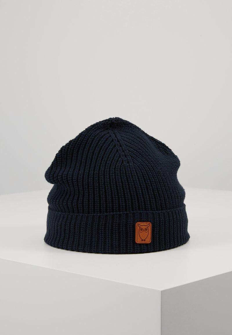 Knowledge Cotton Apparel - RIBBING HAT SHORT - Čepice - dark blue