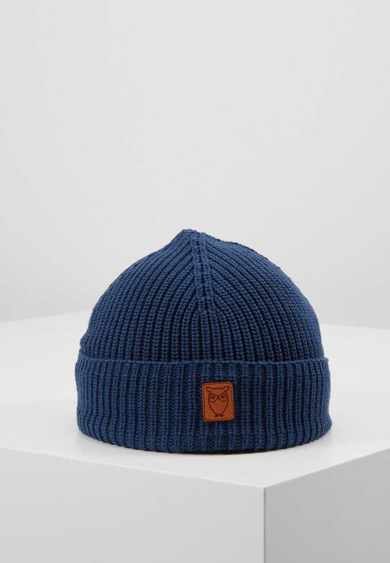 Knowledge Cotton Apparel - RIBBING HAT SHORT - Beanie - blue