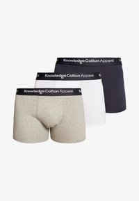Knowledge Cotton Apparel - MAPLE 3 PACK - Shorty - black/white/grey heather - 5