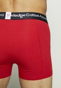 Knowledge Cotton Apparel - MAPLE UNDERWEAR 3 PACK - Onderbroeken - black/pink/red - 6