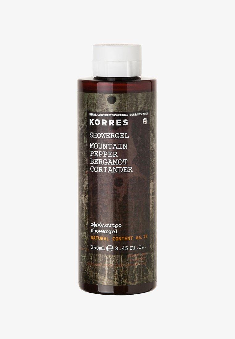 Korres - MOUNTAIN PEPPER BERGAMOT CORIANDER SHOWERGEL 250ML - Shower gel - neutral