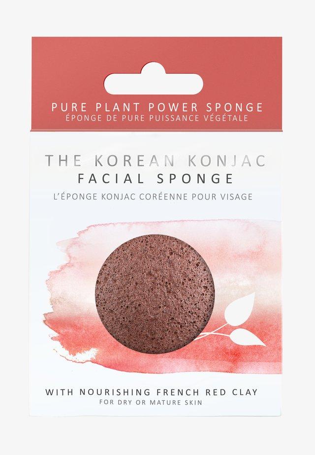 KONJAC FACIAL SPONGE - Skincare tool - rote tonerde