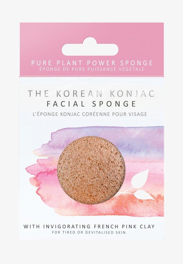 KONJAC FACIAL SPONGE - Skincare tool - rosa tonerde