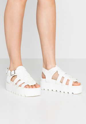 VEGAN - Platform sandals - white