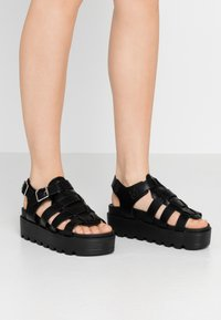 Koi Footwear - VEGAN - Platform sandals - black - 0