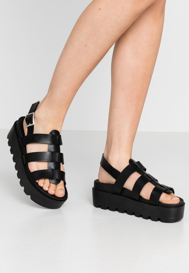 VEGAN - Platform sandals - black