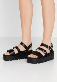 Koi Footwear - VEGAN  - Platform sandals - black - 0