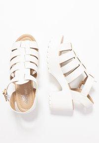 Koi Footwear - VEGAN - Sandály na platformě - white - 3