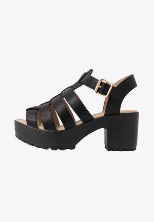 VEGAN - Sandales à plateforme - black