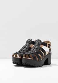 Koi Footwear - VEGAN - Platåsandaler - black - 4