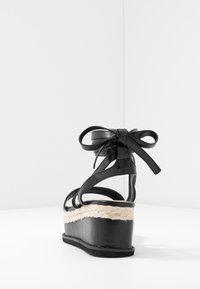 Koi Footwear - VEGAN FAN - Platform sandals - black - 5