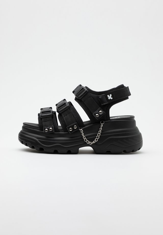 VEGAN SULFUR - Platform sandals - black