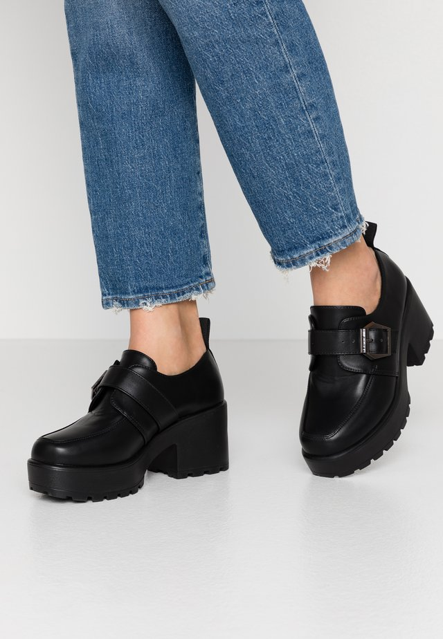 VEGAN - Platform heels - black