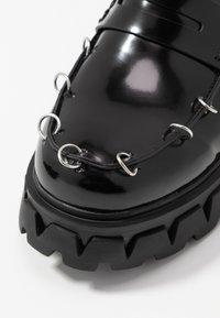 Koi Footwear - VEGAN GENSAI ASHEN PIERCED LOAFERS  - Lodičky splatformou - black - 2