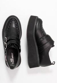 Koi Footwear - VEGAN - Loaferit/pistokkaat - black - 3