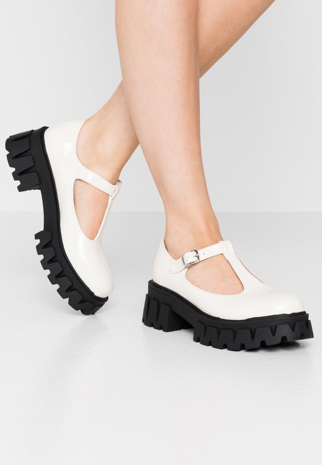 VEGAN DAWN - Platform heels - white