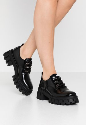 VEGAN VULCAN - Lace-ups - black