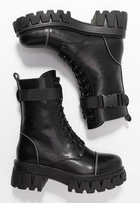 Koi Footwear - VEGAN BANSHEE - Botines con plataforma - all black - 3