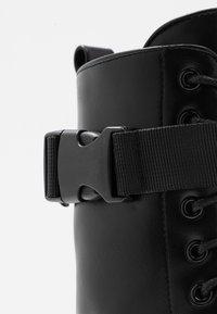 Koi Footwear - VEGAN BANSHEE - Botines con plataforma - all black - 2
