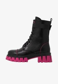 Koi Footwear - VEGAN BANSHEE - Kotníkové boty na platformě - black/purple - 1