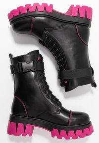 Koi Footwear - VEGAN BANSHEE - Kotníkové boty na platformě - black/purple - 3