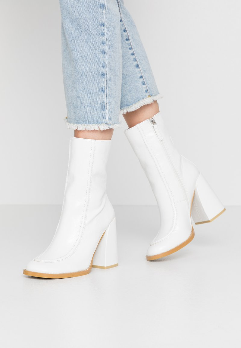 Koi Footwear - VEGAN  - High heeled ankle boots - white