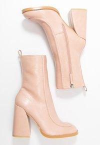 Koi Footwear - VEGAN  - High heeled ankle boots - light pink - 3