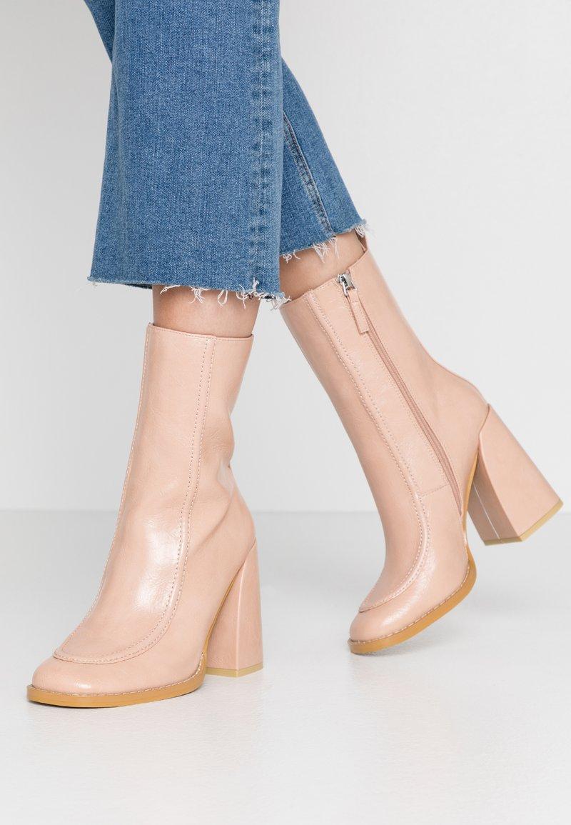 Koi Footwear - VEGAN  - High heeled ankle boots - light pink
