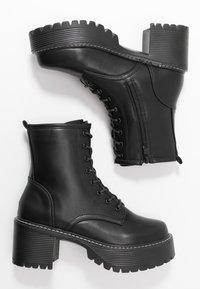 Koi Footwear - VEGAN DL3 - Kotníkové boty na platformě - black - 3