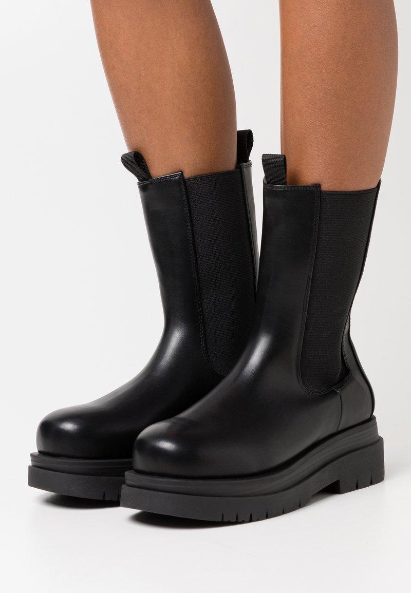 Koi Footwear - VEGAN  - Platform ankle boots - black