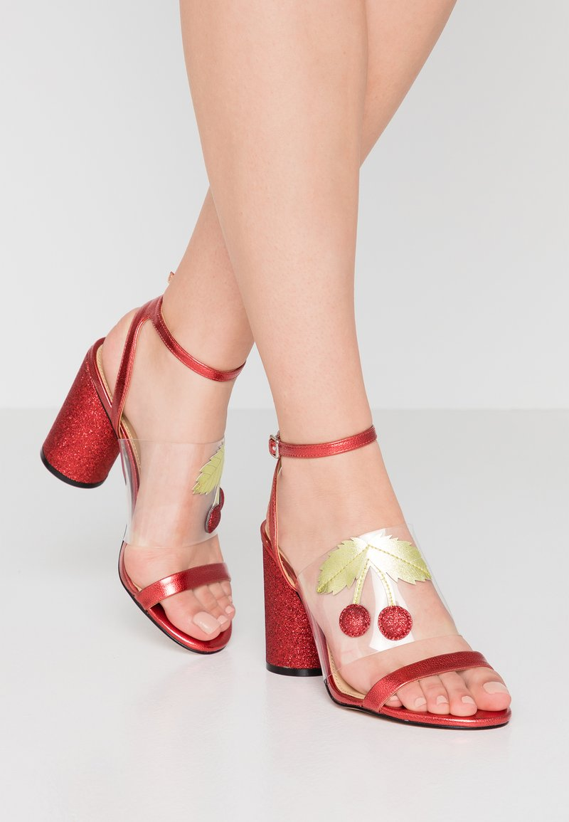 Katy Perry - THE RUBIA - High Heel Sandalette - clear/wild lime