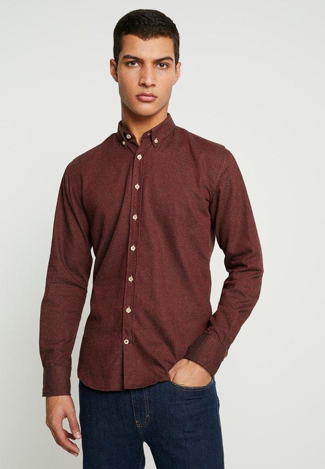 DEAN DIEGO - Overhemd - bordeaux melange