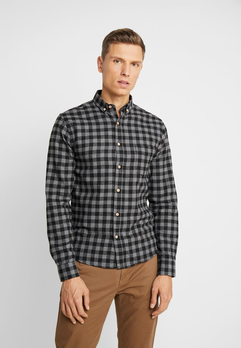 Kronstadt - JOHAN CHECK - Shirt - black
