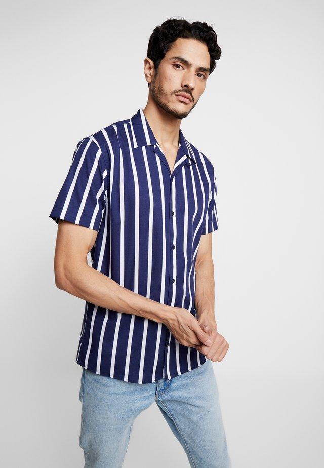 CUBA - Košile - dark blue/white