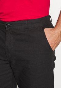Kronstadt - HECTOR OXFORD WASHED - Shorts - black - 3