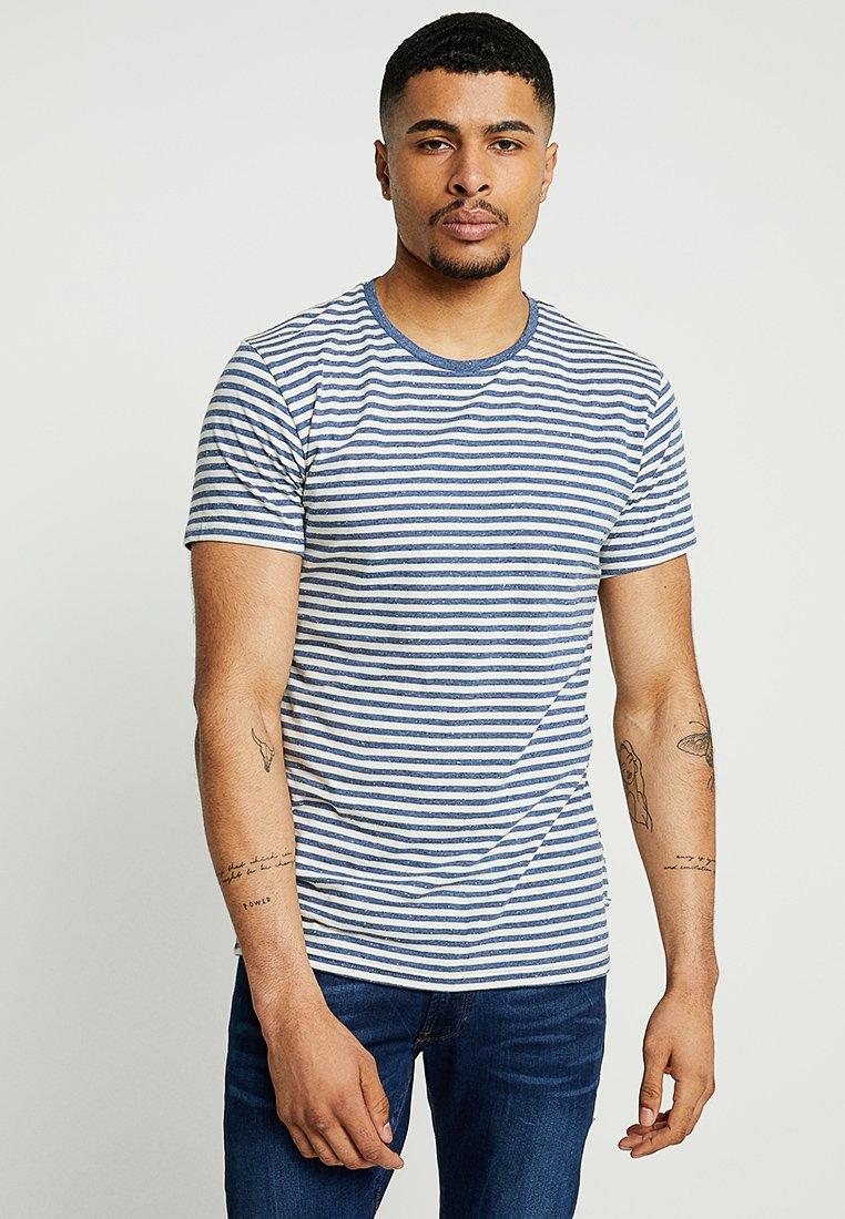 Kronstadt - JAKOVA TEE - T-shirt print - indigo/off white