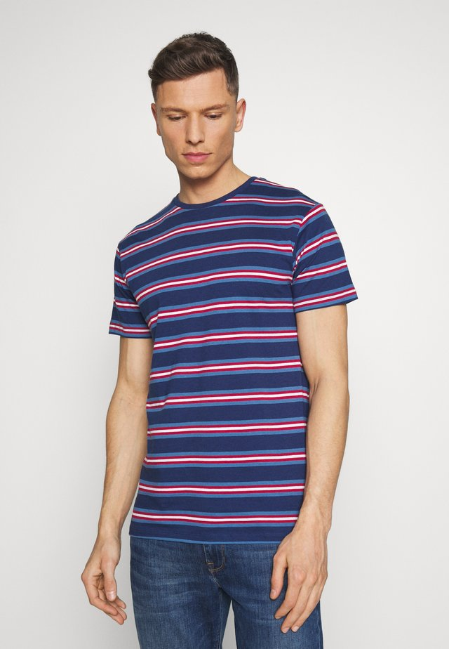 JOHNNY - T-Shirt print - navy/white/red