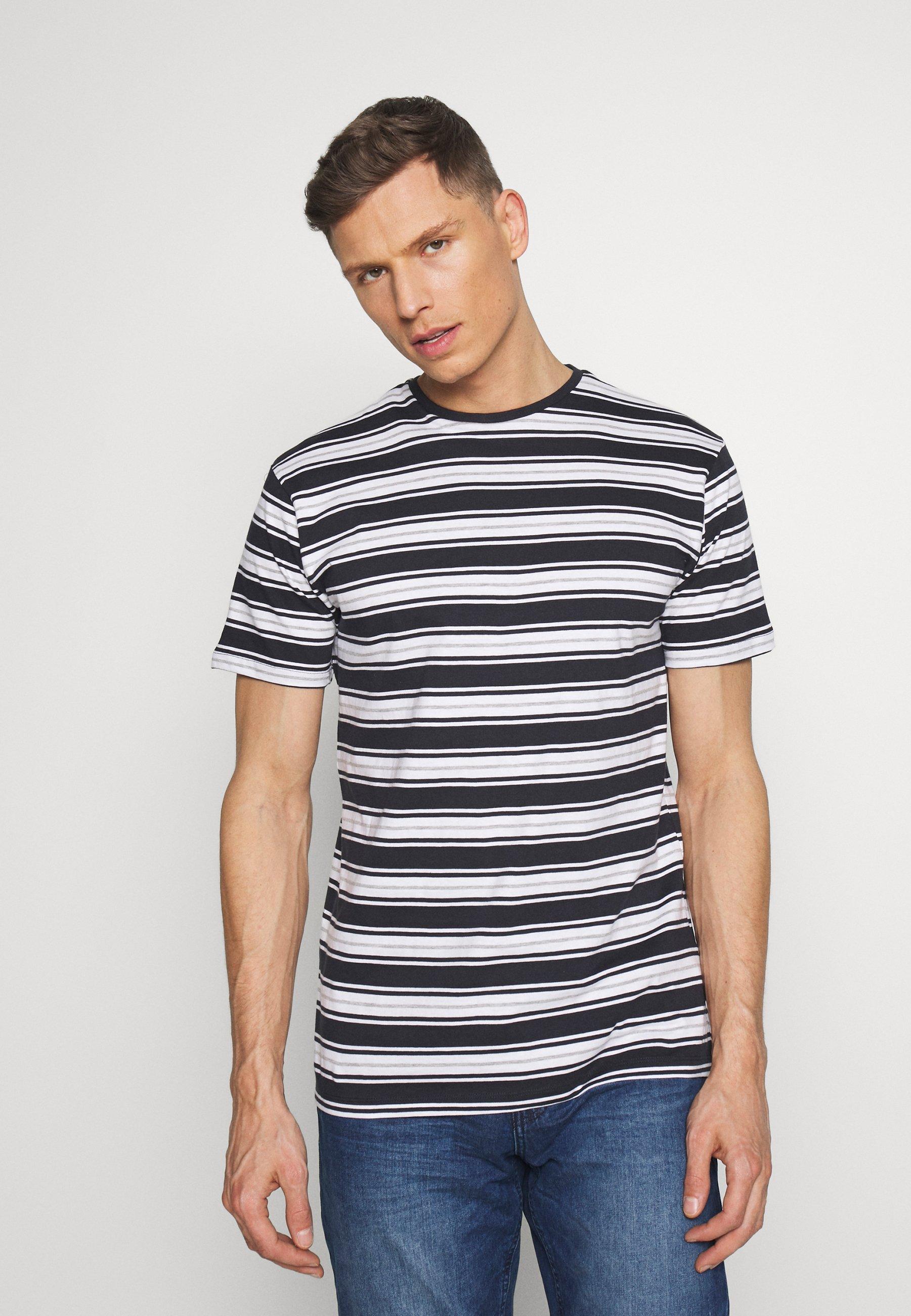 Kronstadt ALBAM - T-shirt z nadrukiem - navy/white/grey mel