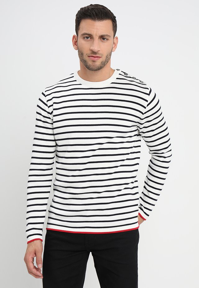 OSCAR  - Jumper - off white/navy
